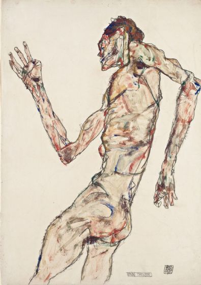 Schiele, Egon: The Dancer. Fine Art Print/Poster. Sizes: A4/A3/A2/A1 (003728)
